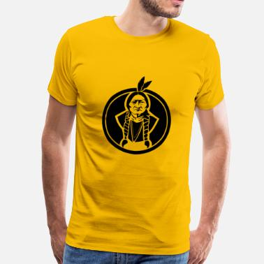Native American Sitting Bull Native American - Mannen Premium T-shirt