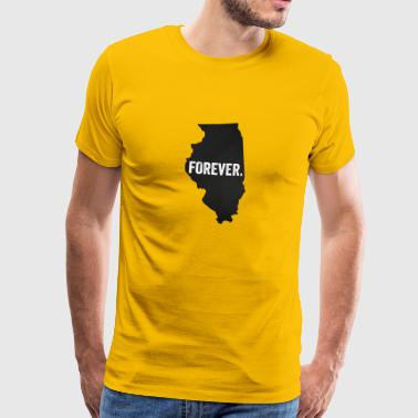 For evigt Illinois - Herre premium T-shirt