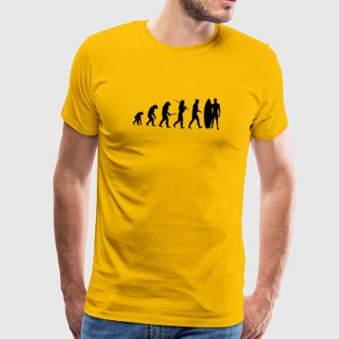 Evolution Surfing gave - Herre premium T-shirt