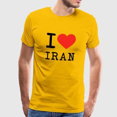9fe537fe Iran I love Iran - Men's Premium T-Shirt
