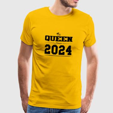 His Queen since partner couple Valentine's Day 2024 - Men's Premium T-Shirt