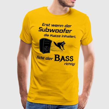 Voiture Hifi - Subwoofer Cat, Hifi Shirt Bass Lover - T-shirt Premium Homme