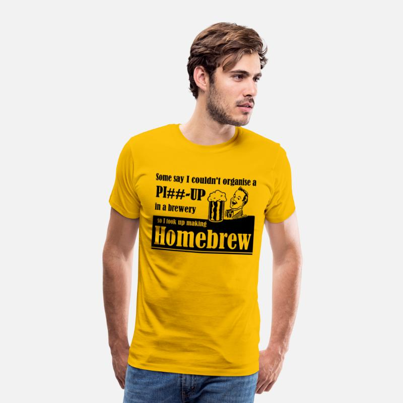 Off T-Shirts - Organise a piss up in a Brewery - Men's Premium T-Shirt sun yellow
