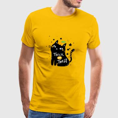 Trick or Treat - trick or treat kat - Mannen Premium T-shirt
