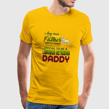 Every human being can be a father, but it always takes - Men's Premium T-Shirt