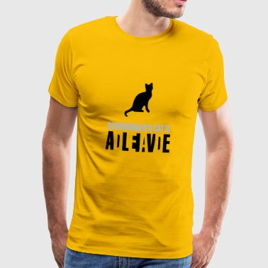 Schrödinger's cat is Alive Dead - Men's Premium T-Shirt
