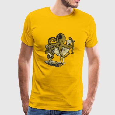 Bred Alpaca meets Octopus Used Look - Men's Premium T-Shirt