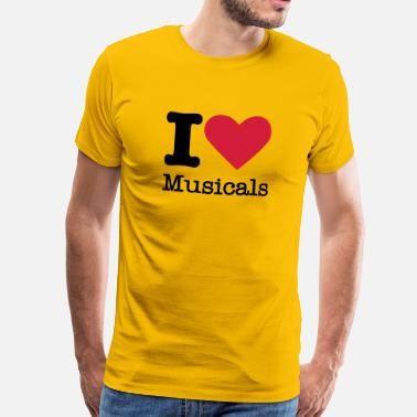 Musicals Musical Theatre I Love Musicals - Men's Premium T-Shirt