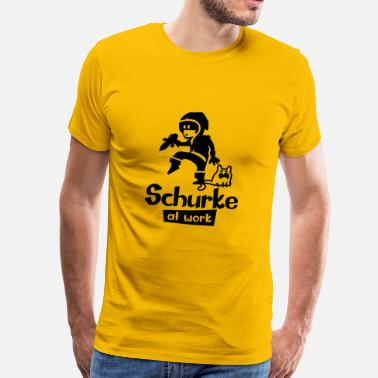 Schurke schurke at work - Männer Premium T-Shirt