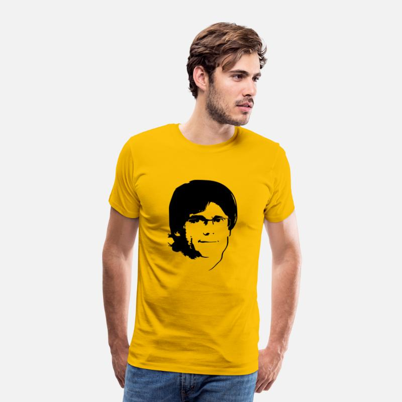 Barcelona T-Shirts - Carles Puigdemont - Men's Premium T-Shirt sun yellow