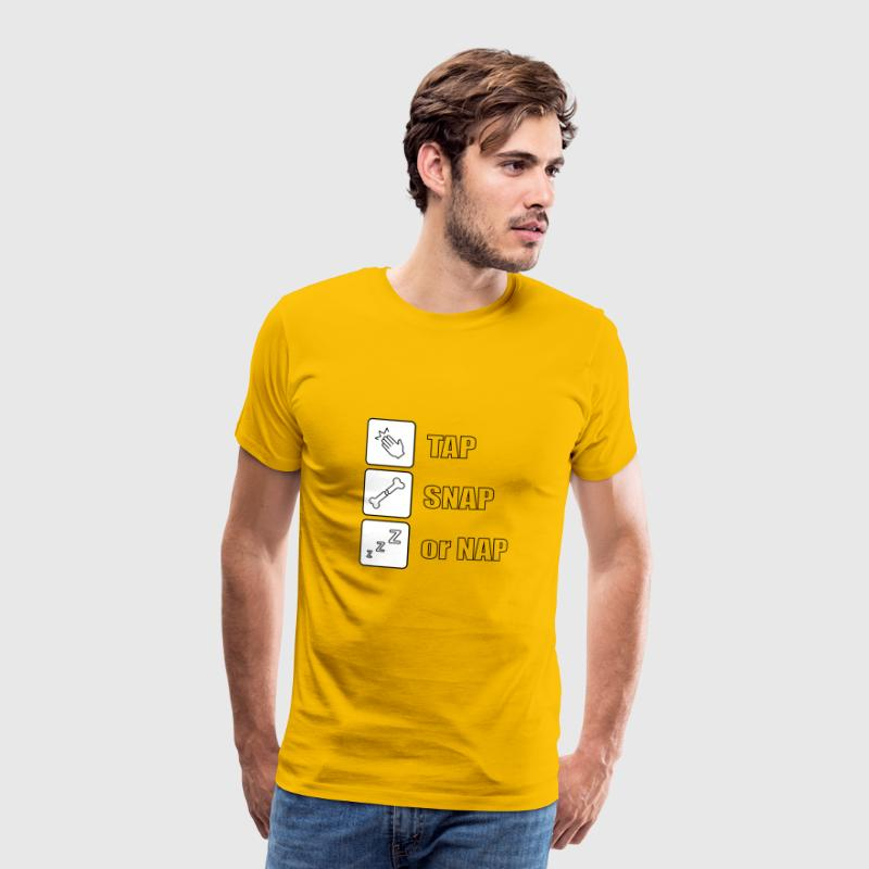 Tap snap or nap - Men's Premium T-Shirt