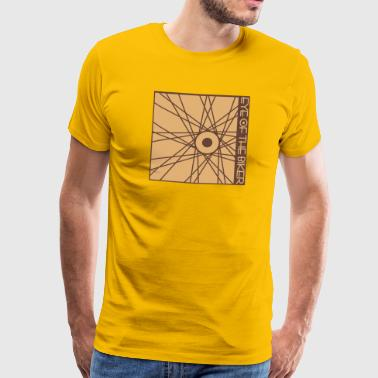 Eye Of The Biker - Wheel - bicolor - Männer Premium T-Shirt