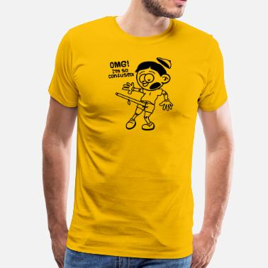 Pinocchio pinocchio is confused today :-) - Men's Premium T-Shirt