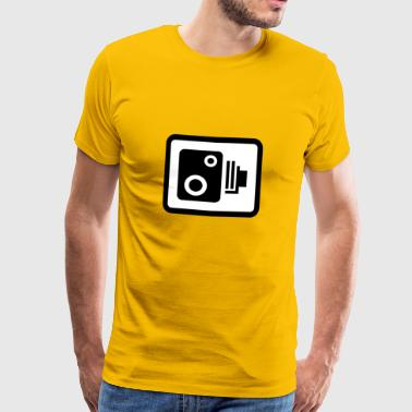speed camera road sign - Men's Premium T-Shirt