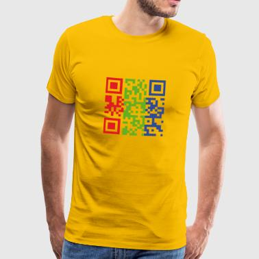 I Fuck on the first Date QR-Code - Männer Premium T-Shirt