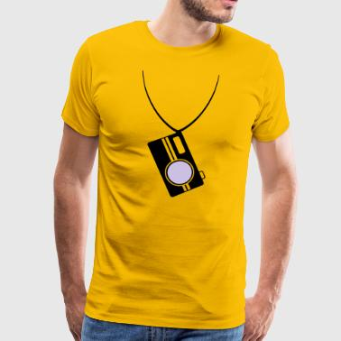 camera with neck strap - Men's Premium T-Shirt