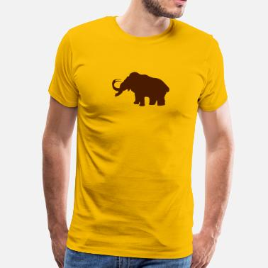 Prehistoric Ice Age mammoth elephant - Men's Premium T-Shirt