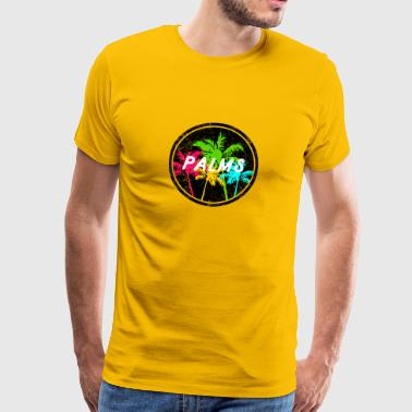 Bunte Palmen, Colorful Palms - Männer Premium T-Shirt