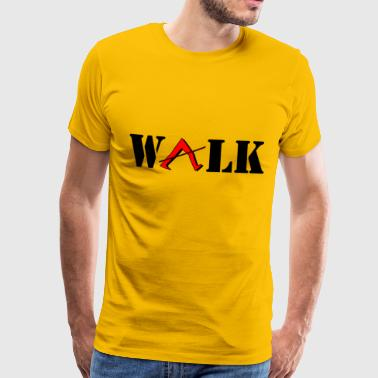 walk - Men's Premium T-Shirt