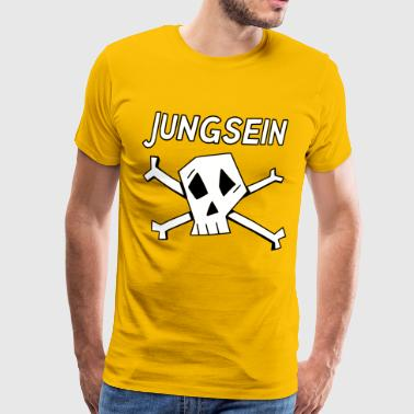 Boy Band Jungfrau skull - Men's Premium T-Shirt