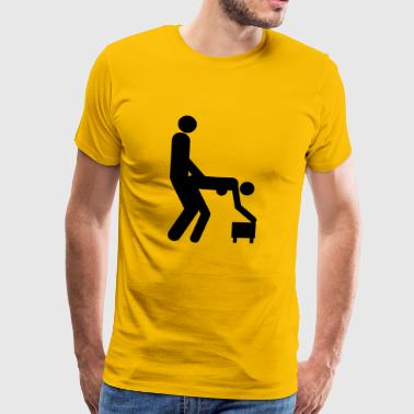 Stencil Sex positions - Men's Premium T-Shirt
