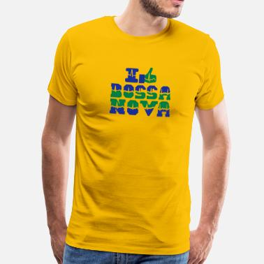 Bossa Nova I like Bossa Nova heart beat - Men's Premium T-Shirt