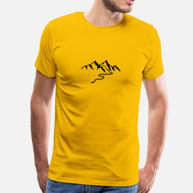 Trail Hike Beautiful mountains with hiking trail - Men's Premium T-Shirt