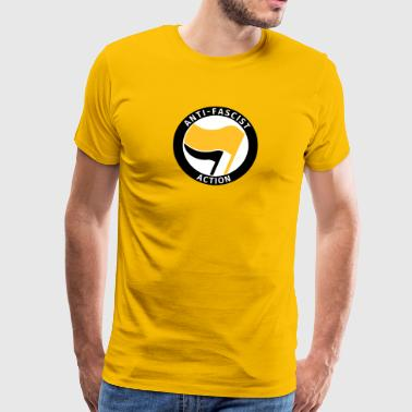 Antifa Anti-Fascist Action - Mannen Premium T-shirt