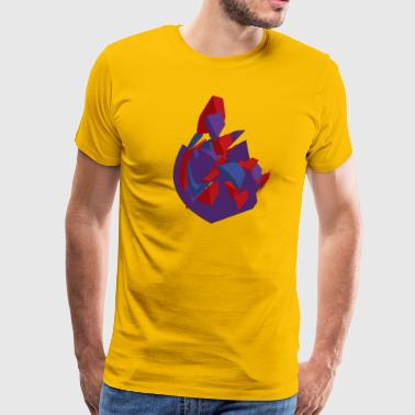 Purple Vector Heart - Men's Premium T-Shirt