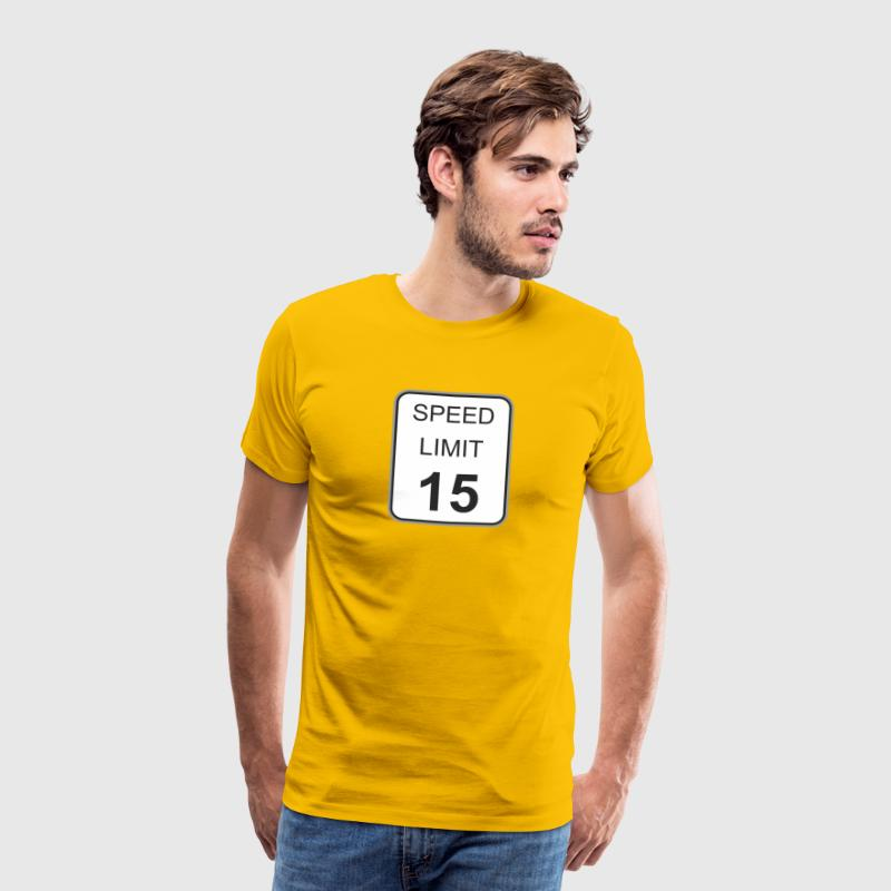 Road sign speed limit 15 - Men's Premium T-Shirt