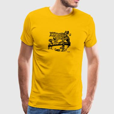 cheetah cat jaguar leopard ocelot cheetah wildcat48 - Men's Premium T-Shirt