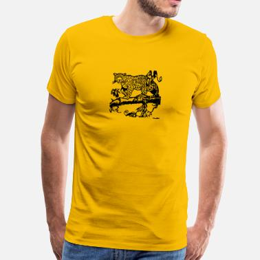 Cheetah cheetah cat jaguar leopard ocelot cheetah wildcat48 - Men's Premium T-Shirt