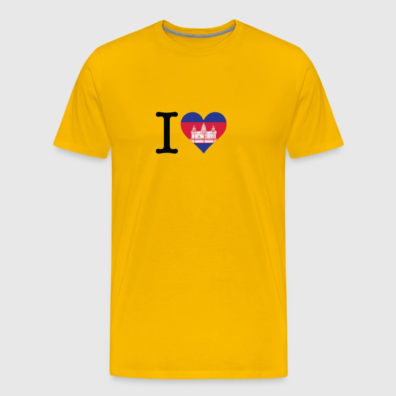 I Love Cambodia - Men's Premium T-Shirt