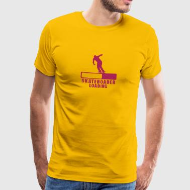 skateboarder loading progress bar 2 - Men's Premium T-Shirt
