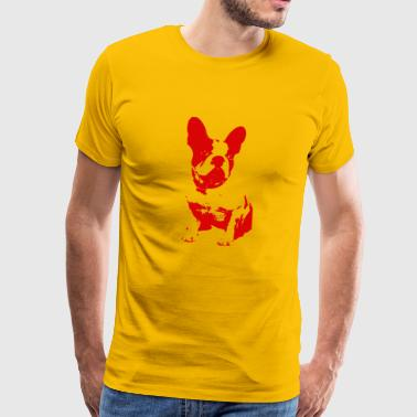 red retro dog - Men's Premium T-Shirt