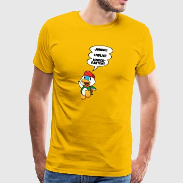 Cartoon Ente endlich Kindergarten DD - Männer Premium T-Shirt