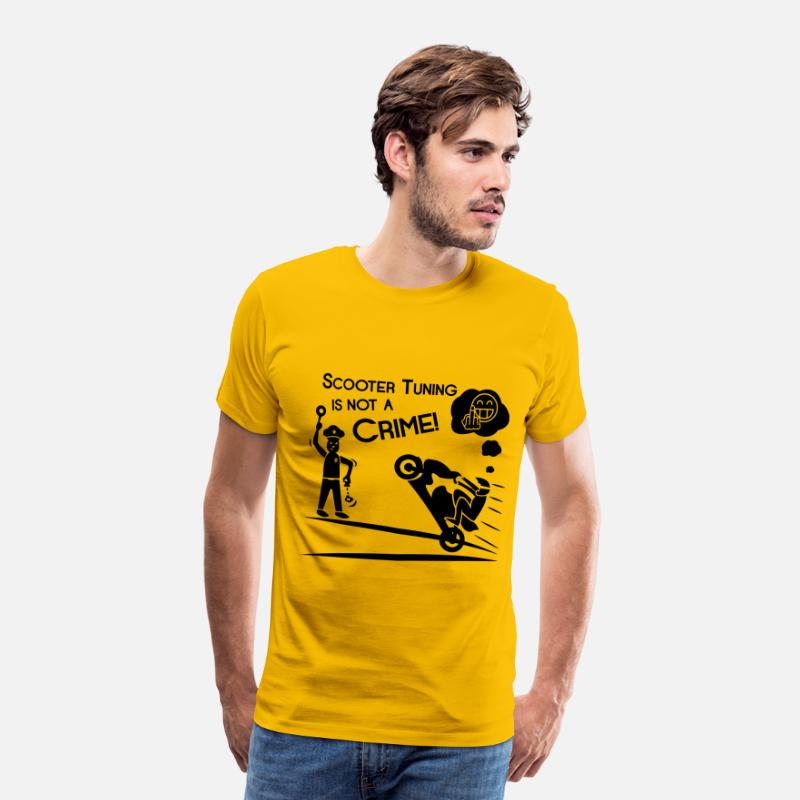 Tuning T-Shirts - Scooter Tuning is not a Crime! - Men's Premium T-Shirt sun yellow