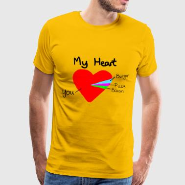 heart pie chart valentines day funny gift - T-shirt Premium Homme