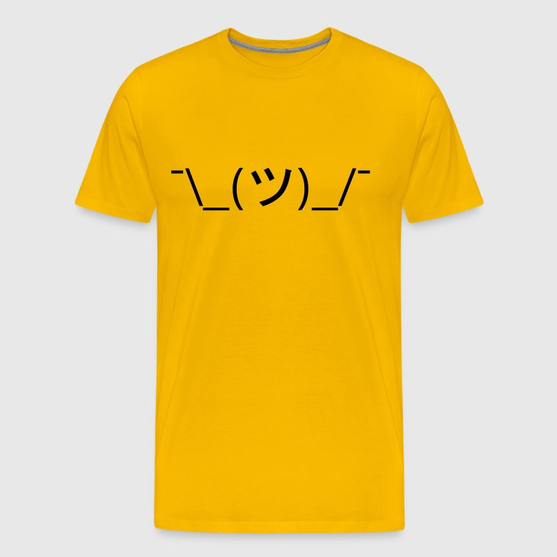 Shrug Emoticon ¯\_(ツ)_/¯ Japanese Kaomoji - Men's Premium T-Shirt