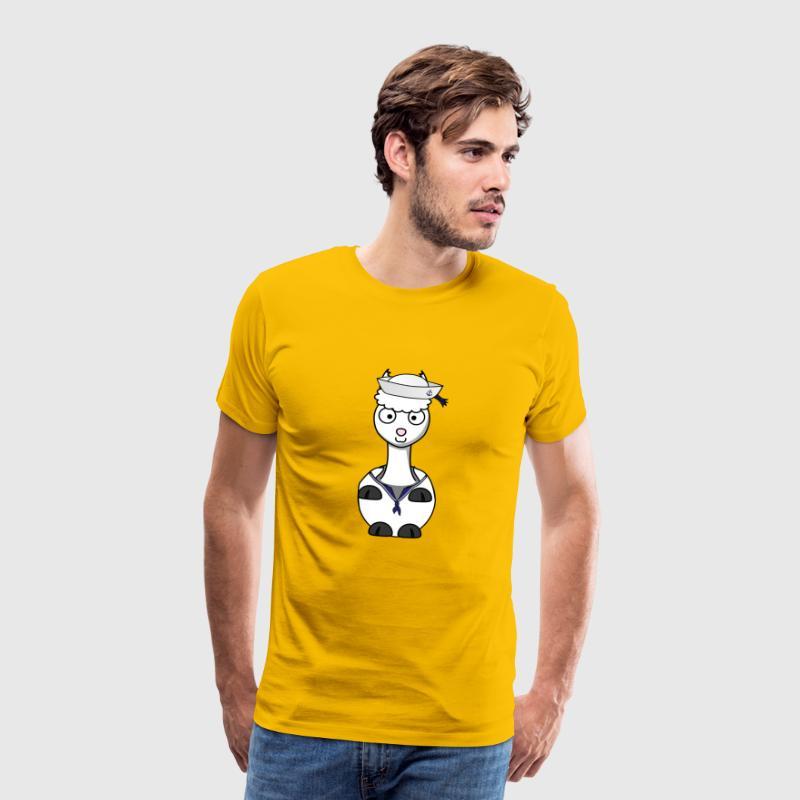 7b292cb6ea1 sailor captain ship boat sailor captain sailboat Men's Premium T-Shirt -  sun yellow
