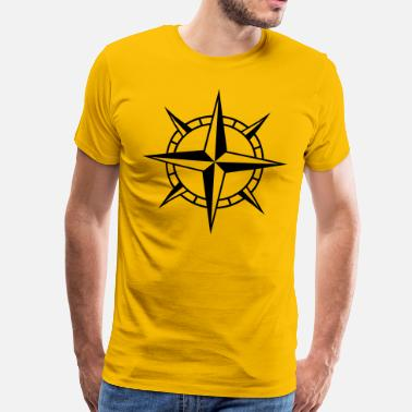 Zeevaart Wind Rose Cross - Mannen Premium T-shirt