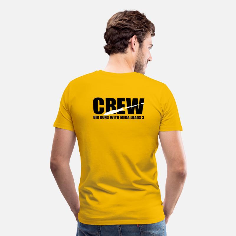 4c771b559df Redtube T-Shirts - porno crew - Men s Premium T-Shirt sun yellow