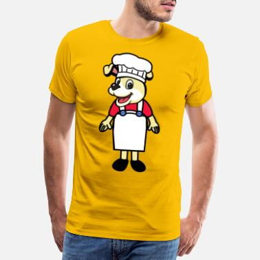 Hunger Little dog cook - Men's Premium T-Shirt
