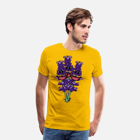 Enviromental T-Shirts - Lavender flower flowers flowers spring summer - Men's Premium T-Shirt sun yellow