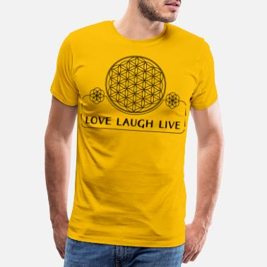 Ethno Flower Of Life Love Laugh Live 1 - Men's Premium T-Shirt