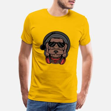 Successful Life DJ dog - Men's Premium T-Shirt