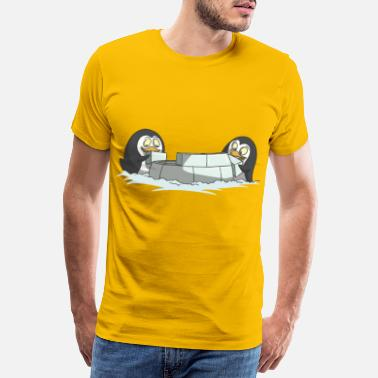Bob Igloo construction ice snow gift idea - Men's Premium T-Shirt