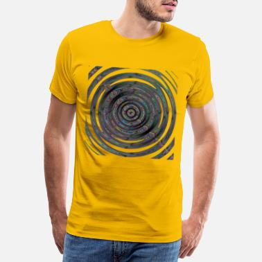 Paint Brush Dark color swirling - Men's Premium T-Shirt