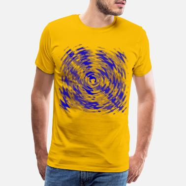 Neon Star swirl blue - Men's Premium T-Shirt