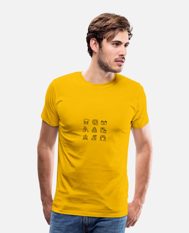 Engagement T-Shirts - wedding - Men's Premium T-Shirt sun yellow